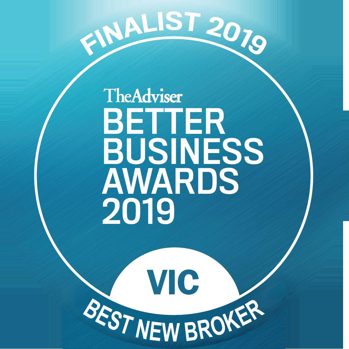 Best New Broker - Better Business Awards 2019